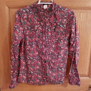 JCREW floral button up